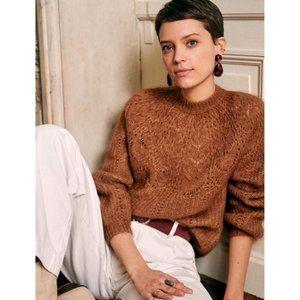Sezane Paulin Jumper Knit Sweater Camel Brown